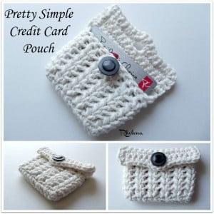 Pretty Simple Credit Card Pouch ~ Rhelena - CrochetN'Crafts