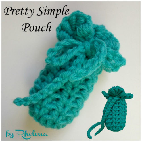 Easy Crochet Pouch Pattern : Pretty Simple Pouch ~ FREE Crochet Pattern