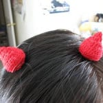 Devil's Horns Hair Clips ~ Donna's Crochet Designs