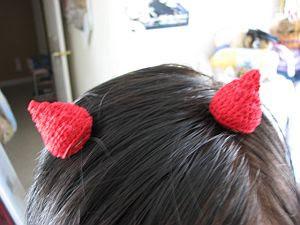 Devil's Horns Hair Clips ~ Donna's Crochet Designs
