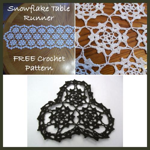Snowflake Table Runner Free Crochet Pattern