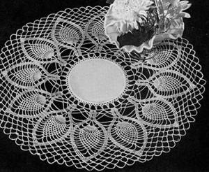 Palm Fronds Doily ~ Free Vintage Crochet