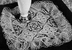 Flower Patch Doily ~ Free Vintage Crochet