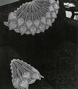 Pineapple Fan Chair Set ~ Free Vintage Crochet