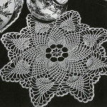 Pineapple Points Doily ~ Free Vintage Crochet