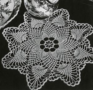 Pineapple Points Doily ~ Free Vintage Crochet