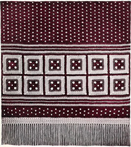 Table Runner with Crossed Squares ~ Free Vintage Crochet