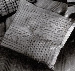 Block Insertion Pillow Top ~ Free Vintage Crochet
