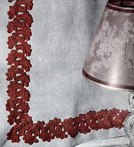 Peacock Fan Insertion #341 ~ Free Vintage Crochet