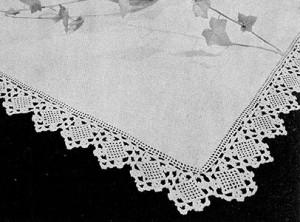 Square Motif Edging #342 ~ Free Vintage Crochet