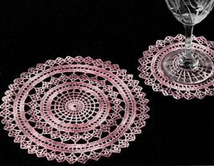 Spider Web Doily Set ~ Free Vintage Crochet