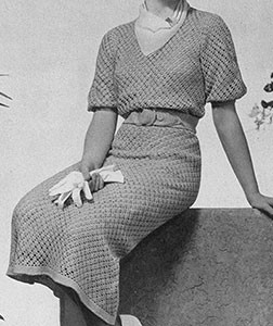 Country Club Dress ~ Free Vintage Crochet