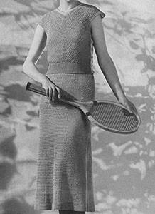 Wimbledon Dress ~ Free Vintage Crochet