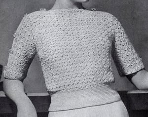 Weekend Sweater ~ Free Vintage Crochet