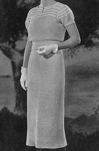 Garden Party Dress ~ Free Vintage Crochet