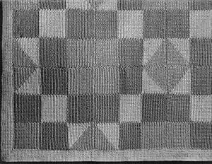 Hourglass Patchwork Bedspread #619 ~ Free Vintage Crochet