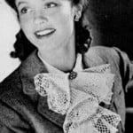 Irish Crochet Jabot ~ Free Vintage Crochet