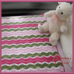 Sweet 'n' Sassy Ripple Afghan ~ Designs from Grammy's Heart, with Love