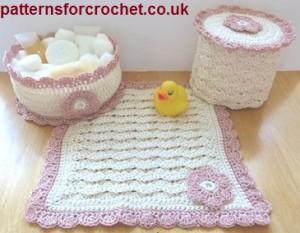 Bathroom Set ~ Patterns For Crochet