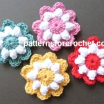 Popcorn Flower Motif ~ Patterns For Crochet