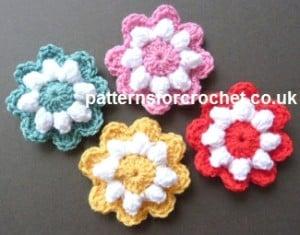 Popcorn Flower Motif ~ Patterns For Crochet