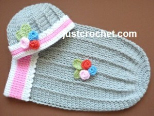 Cuddle Pouch and Hat ~ JustCrochet