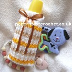 Striped Bottle Cover ~ Patterns For Crochet