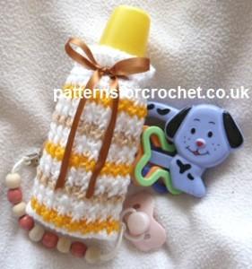 Striped Bottle Cover ~ Patterns For Crochet