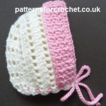 Brimmed Bonnet ~ Patterns For Crochet