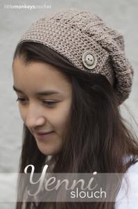 Yenni Slouch Hat ~ Rebecca Langford - Little Monkeys Crochet