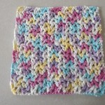 V Stitch Dishcloth ~ Barb's Free Crochet Patterns