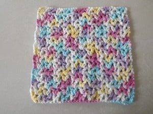 V Stitch Dishcloth ~ Barb's Free Crochet Patterns