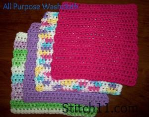 All Purpose Washcloth ~ Stitch11
