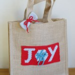 """Joy"" Gift Bag Motif ~ Dawn Curran/Frankly Crochet for My Hobby is Crochet"