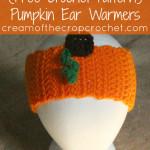 Pumpkin Ear Warmers by Cream Of The Crop Crochet for CrochetN'Crafts