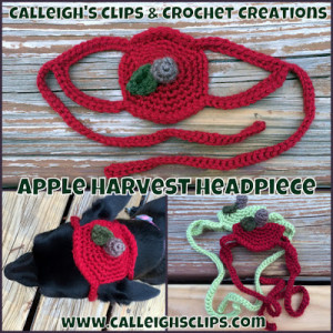 Apple Harvest Headpiece ~ Elisabeth Spivey - Calleigh's Clips & Crochet Creations
