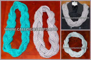 Chunky Braided Cowl ~ Elisabeth Spivey - Calleigh's Clips & Crochet Creations