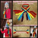 Rainbow Spirals Scarf-Let ~ Elisabeth Spivey – Calleigh's Clips & Crochet Creations