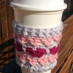 Cross Your Heart Coffee Cozy by Elisabeth Spivey of Calleigh's Clips & Crochet Creations