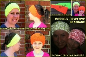 Runner's Reflective Headband by Elisabeth Spivey of Calleigh's Clips & Crochet Creations