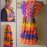 Sherbet Dreams Scarf ~ Elisabeth Spivey – Calleigh's Clips & Crochet Creations