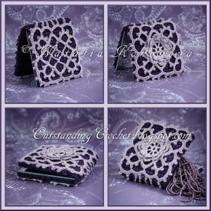 How to Read Crochet Charts / Compact Mirror Case Tutorial ~ Natalia Kononova