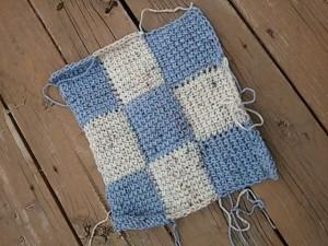 Making Entrelac Look Interlaced ~ Tunisian Crochet