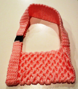 Crocheted Arm Sling ~ My Recycled Bags