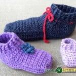 Non-stop Slippers – Child Sizes ~ Stitches 'N' Scraps