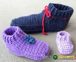 Non-stop Slippers - Child Sizes ~ Stitches 'N' Scraps