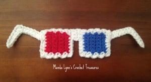 3D Glasses Applique ~ MandaLynn's Crochet Treasures