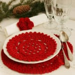 Christmas Place Mat/Doily and Serviette Ring by DROPS Design