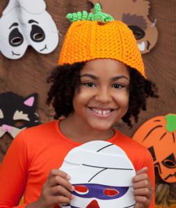 Crochet Pumpkin Hat ~ Kathleen Sams - Red Heart