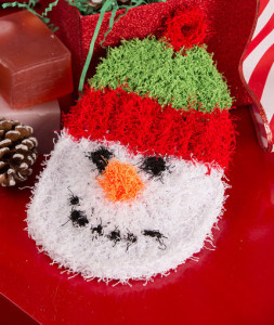 Snowman Scrubby by Michele Wilcox for Red Heart